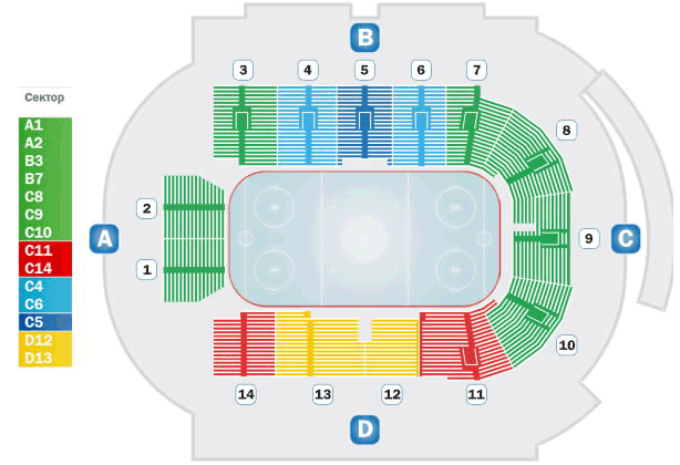 Арена Мытищи, схема зала