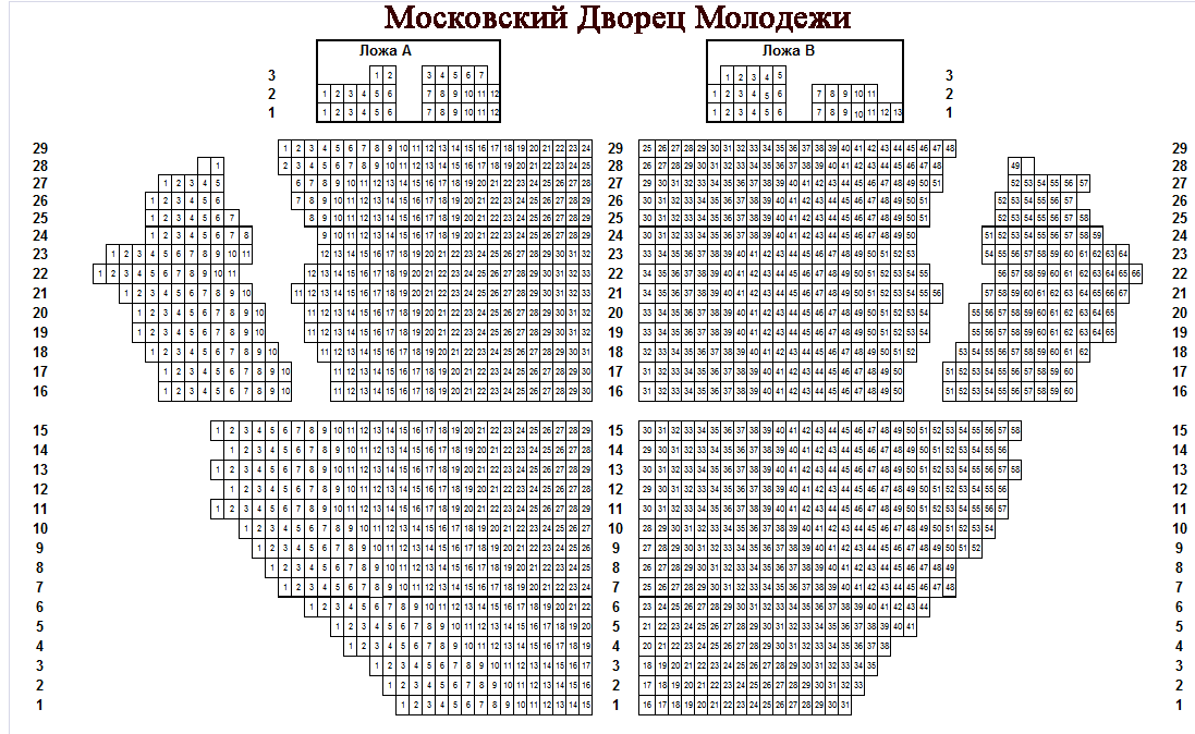 Схема мдм зала