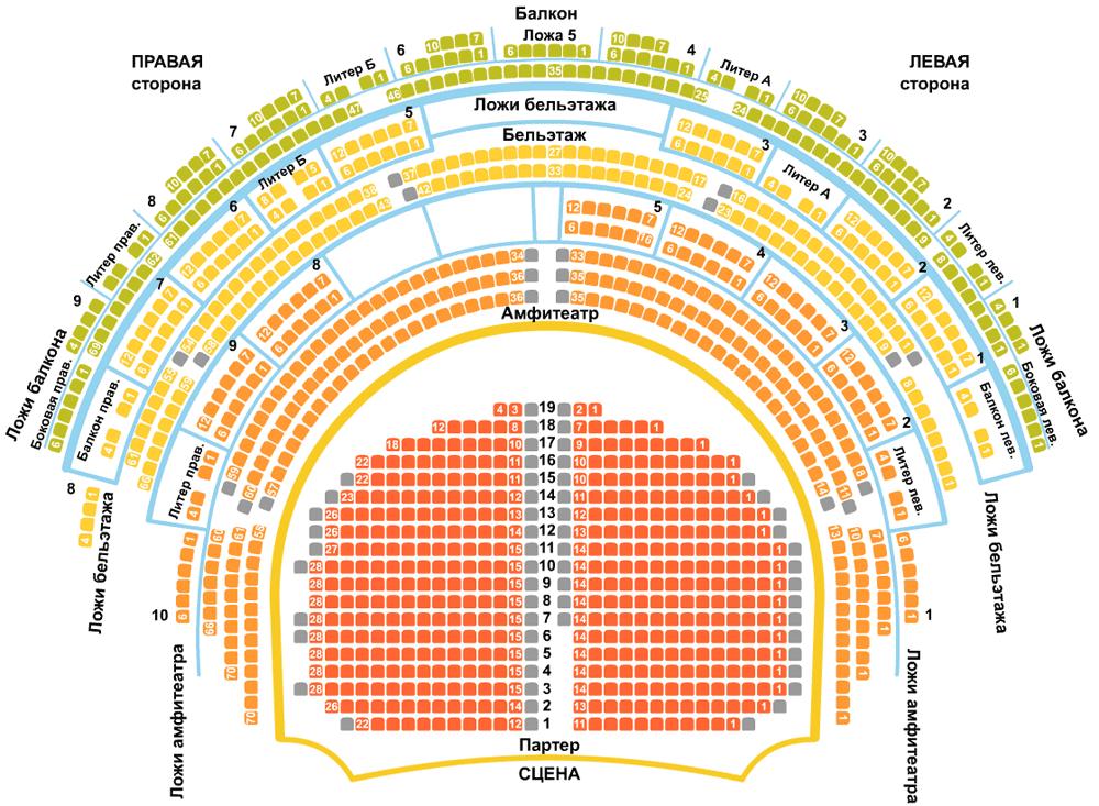 Схема зала театра моссовета амфитеатр видео